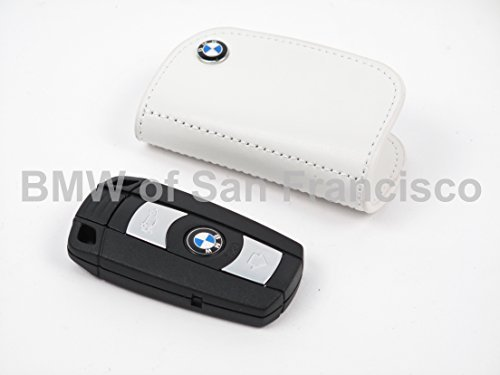 BMW Genuine White Leather Key Case ()
