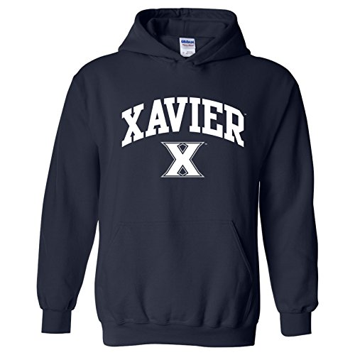 UGP Campus Apparel AH03 - Xavier Musketeers Arch Logo Hoodie - Small - (Navy Blue Double Arch)