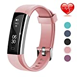 Lintelek F Fitness, Slim Activity Tracker with Heart Rate Monitor,Pink, 1