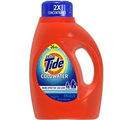 Tide 13755 Fresh Scent Coldwater Liquid Laundry Detergent, 50 Ounces, 26-loads (Case of 6)