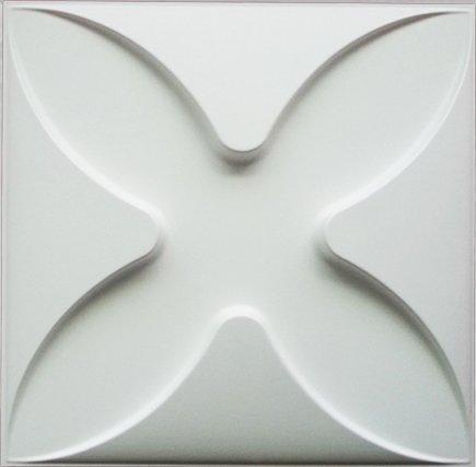 Easy Peel & Stick, Durable Plastic Textured Decorative 3D Wall Panel - Flower Design. 12 Panels. 32 SF