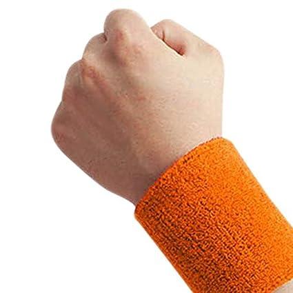 ArgoBo Braccialetti in Puro Cotone da Polso da 1 Paio Cinturini di Sostegno da Polso Morbidi Cinturini da Polso Sport Sweatbands per Giocare a Basket