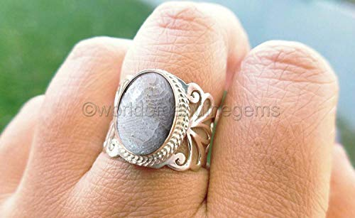 Genuine Fossil Coral - fossil coral ring, designer handmade jewelry, 925 sterling silver, filigree destine, brilliant quality ring, natural gemstone ring, birthday gift ring, father's day gift ring, anniversary gift ring