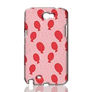 Balloon Pattern Photo Hard 3D Rough Case , Fashion Image Case Diy, Personalized Custom Durable 3d Samsung Galaxy Note3