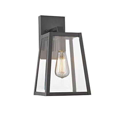 Chloe Lighting CH822034BK14-OD1 Transitional 1 Light Black Outdoor Wall Sconce 14