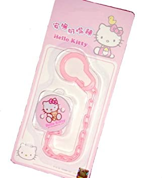 Amazon.com: Hello Kitty Baby Pacifier Holder con suaves ...