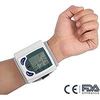 Lychee LCD digital de muñeca monitor de presión arterial latido del corazón del medidor de memoria 60
