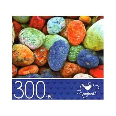 Colorful Sea Pebbles - 300 Piece Jigsaw Puzzle: Toys & Games