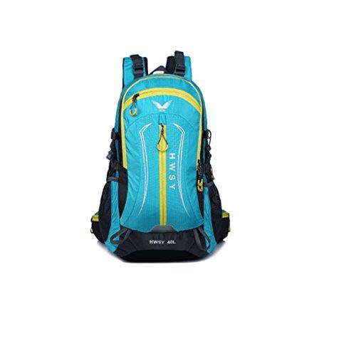 La bolsa de hombro colores mezclados nueva bolsa de viaje al aire libre paquete de escalada 40L comercio montañismo senderismo impermeable azul claro