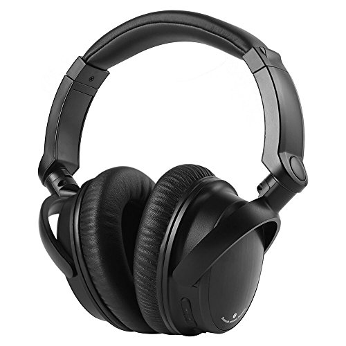 Sbode Bluetooth Headphones Over Ear, Hi-Fi Stereo Wireless Headset, Adjustable, Soft Memory-Protein Earmuffs, Built-in Mic and Wired Mode for PC/ Cell Phones/ TV(Black)