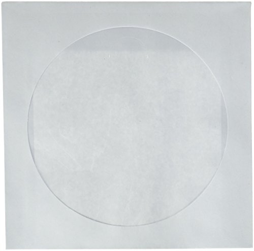Paper Cd Sleeves (CD DVD White Paper Sleeves with Clear Window 1000 Pack)