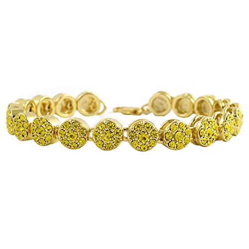 Lemonade Cluster Hip Hop Bracelet Covered in Bling by Hip-Hop Bling