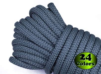 Nylon Utility Rope - Polypropylene Outer Sheath - for Cargo, Crafts, Tie-Downs, Marine, Camping, Swings, Hiking - Foliage Green 100 Feet