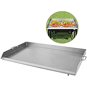 Happybuy Universal Flat Top Griddle 36x22 inches BBQ Grills Stainless Steel Non Stick Burner Griddle with Removable Handles for Restaurant or Home Use
