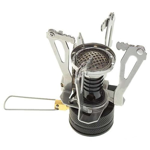 Lightweight Backpacking Stoves: Ultralight Backpacking Canister Camp Stove With Piezo