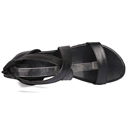 Sangle Black Croisee Sandales VulusValas Femmes Chaussures 1B4pxp