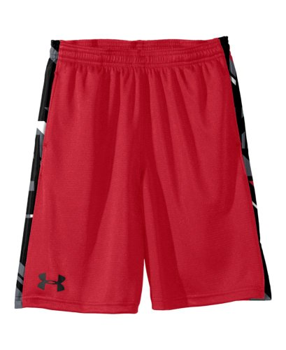 Under Armour Boys' UA Ultimate 9'' Shorts Youth Large Red by Under Armour (Image #1)