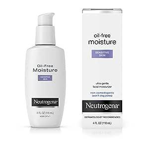 Neutrogena Oil-Free Facial Moisturizer, Sensitive Skin, 4 Fl Oz