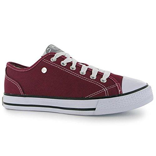 Dunlop - Zapatillas para mujer Rojo granate 35.5, color Rojo, talla 37: Amazon.es: Zapatos y complementos
