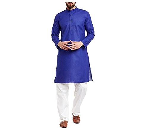 FOCIL Diwali Special Royal Blue Kurta Pyjama for Mens