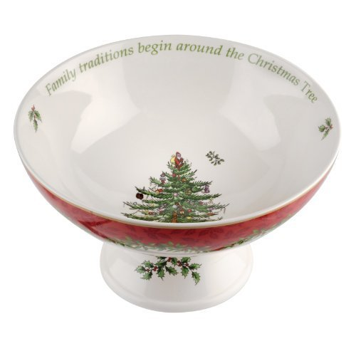 Spode Christmas Tree Annual 2013 Footed Compote Serving Bowl by Spode by Spode