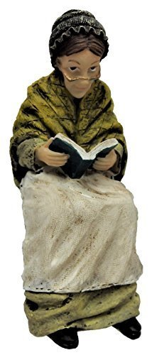 Melody Jane Dollhouse Victorian Old Lady Sitting Reading People Resin Figure
