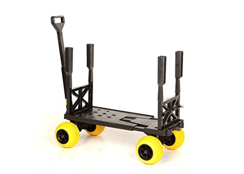 Surf Fishing Cart Wagon with Wheels For Sand Fish Pole Ro...