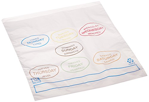 (Elkay Plastics PCAD6507 Portion Control Saddle Pack Bags Printed All Days, 6 1/2