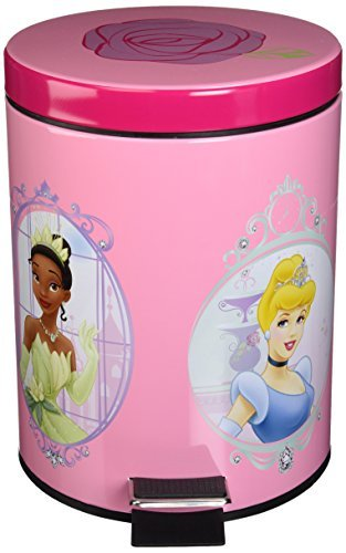 Disney Princess Summer Palace Step-on Waste can (Princess Room Accessories)
