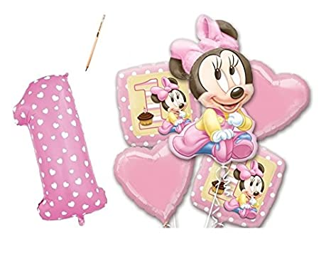 IRPot   BOUQUET PALLONCINI FOIL PRIMO COMPLEANNO MINNIE BABY KIT N