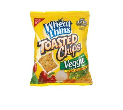 Nabisco Wheat Thins Veggie Toasted Chips, 60 Bags Per Box by Nabisco