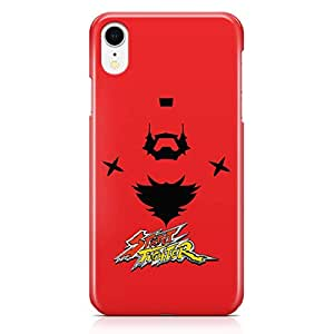 Loud Universe Classic Character Street Fighter iPhone XR Case Street Fighter iPhone XR Cover with 3d Wrap around Edges