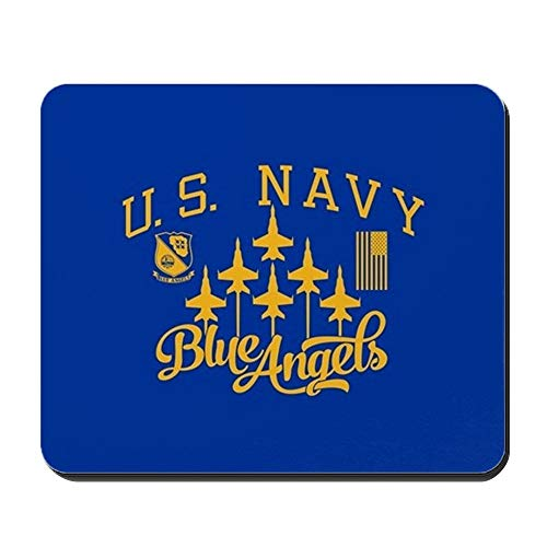 yu bo - U.S. Navy Blue Angels Squadron - Non-Slip Rubber Mousepad, Gaming Mouse Pad