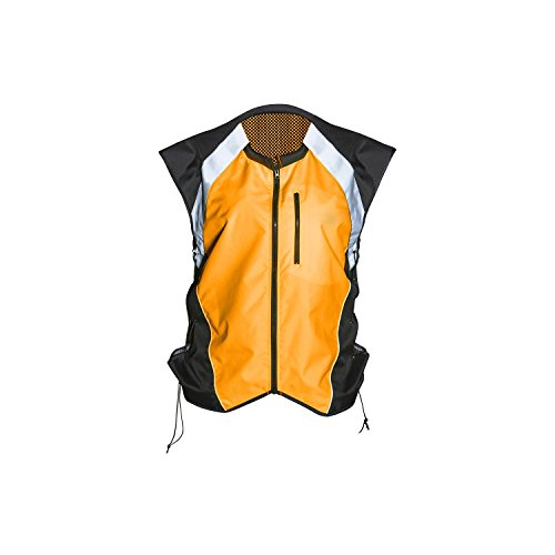- Badass Motogear Hi Vis Reflective Motorcycle Safety Vest. Fits Over Jacket, Zip Front, Pocket (XL: No Logo Fits Over Lg-XL Jackets, Bold Orange)