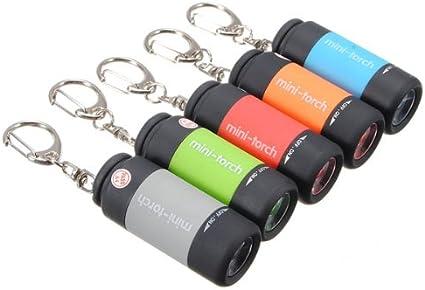 Portable Rechargeable USB DEL lampes de poche étanche Mini torche Keychain Lampe