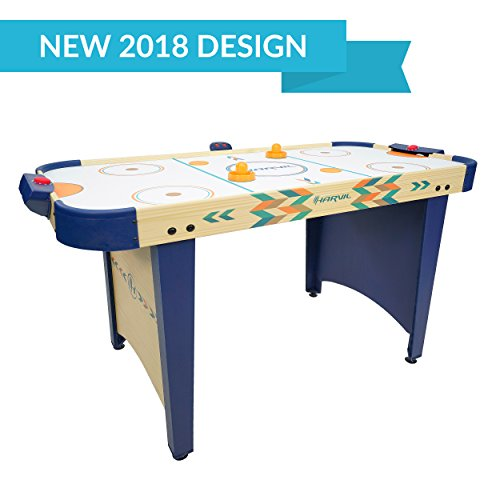 ckey Game Table for Kids and Adults with Electronic Scorer, Free Pushers and Pucks (Air Hockey Table Dimensions)