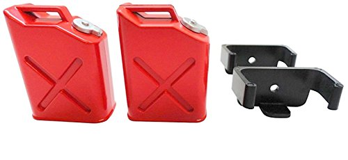 Apex RC Products 1/10 RC Rock Crawler Scale Red Jerry Gas Can Jug W/Brackets - 2 Pack 4052