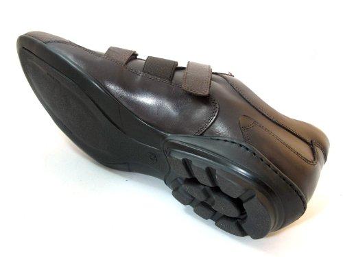 Mauri Italienska Mens Kardborrband Struts Sneakers Stil 8880 Brun