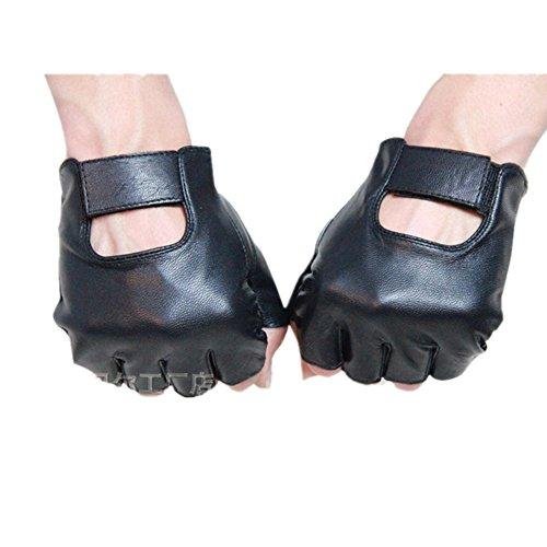 JIUYUNZHOU Mens Summer Genuine Nappa Leather Finger Driving Gloves (XL) (Fingerless Gloves Xl)
