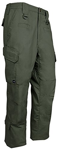 LA Police Gear Men's Water Resistant Operator Tactical Cargo Pants with Lower Leg Pockets - OD Green - 32 x 32