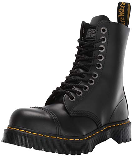 Dr. Martens Men's/Women's Men's 8761 Boot, Black,11 UK (US Men's 12 M) (Womens Steel Toe Boots With Metatarsal Guard)