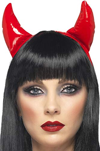 Smiffys Women's Devil Horns, Red, One Size, 21425 ()
