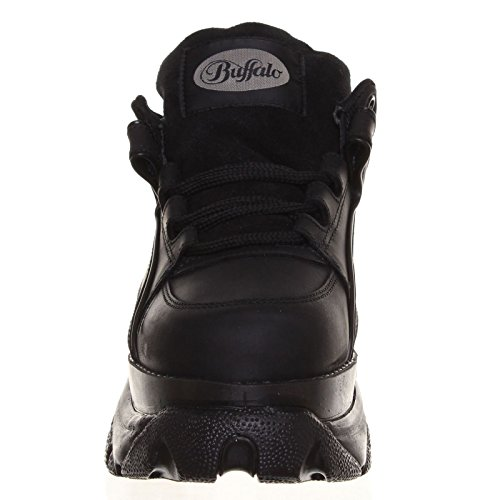 Black 1339 Womens 14 Buffalo Shoes Leather w0Y7qxB4