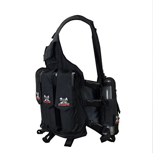 Maddog-Sports-Attack-Tactical-Paintball-Vest-with-Tank-and-Pod-Holder-Attachments-Black