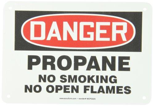 Accuform MCPG025VP Plastic Safety Sign, Legend