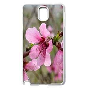 {Funny Series} Samsung Galaxy Note 3 Case Pink Flower 2, Cute Protective Case Okaycosama - White