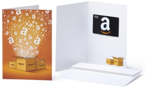 Amazon.com $95 Gift Card in a Greeting Card (Amazon Surprise Box Design)