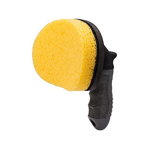 JSCARLIFE Ultimate Tire Brush | Auto Detailing Brush | Tire Cleaning Brush for Tires and Wheels | Tire Dressing Applicator | Car Tire Brush |Car Care (Yellow)