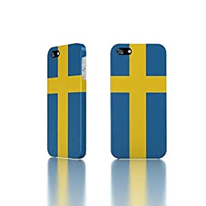 Apple iPhone 5 / 5S Case - The Best 3D Full Wrap iPhone Case - Country Flag of Sweden by icecream design