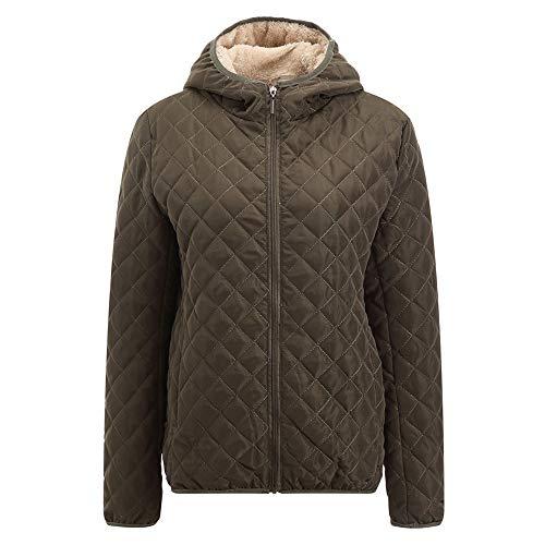 Limsea Women Parka Outwear Coats Jacket Winter Warm Coat Fur Collar Hooded Slim Wintergreen XX-Large -